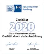 Handelskammer Hamburg Ausbilder Zertifikat 2020